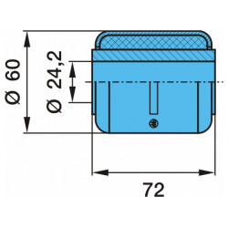 Сайлентблок рессоры 24.2x60x72 (пр-во BPW)