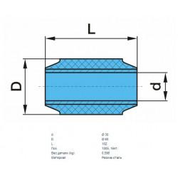 Сайлентблок полурессор 30x60x102 (пр-во BPW)