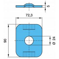 Пластина 24x90x72.3x5 рессоры (для 03.295.46.21.0) (пр-во BPW)
