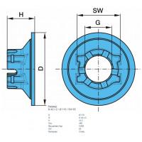Гайка М42x2x110x41.5 SW65 ступицы 9T ECO корончатая оси BPW (пр-во BPW)