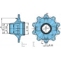 Ступица колеса ТК=335 (пр-во BPW)