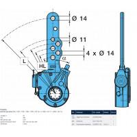 Рычаг тормозной автомат (трещотка) (пр-во BPW)