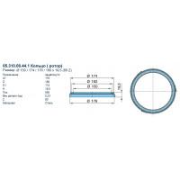 Кольцо АБС 150x174x176x180x19,5 (80 Z) (пр-во BPW)