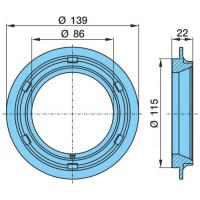 Кольцо ступицы D=115x136,7x8 (пр-во BPW)