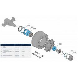 Ремкомплект ступицы колеса прицепа EcoPlus 2 (пр-во BPW)