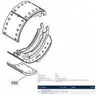 Накладка тормозные оси BPW, KASSBOHRER, SAF 420x180 стандарт (комплект на ось) (пр-во BPW)