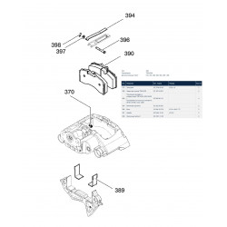 Колодки тормозные дисковые (комплект на ось) TSB 4309 (пр-во BPW)