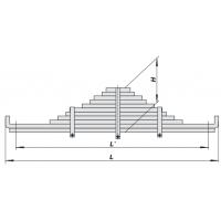Рессора КАМАЗ-5322 задняя (11 листов) повышенной прочности (пр-во ЧМЗ)