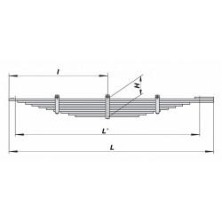 Рессора КАМАЗ-5460 задняя (10 листов) L=2020мм (пр-во ЧМЗ)