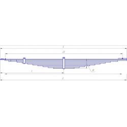 Рессора КАМАЗ-4326 задняя (11 листов) L=1800мм (пр-во ЧМЗ)