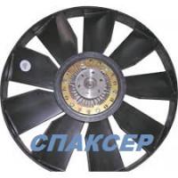 Вентилятор КАМАЗ-ЕВРО 704мм с вискомуфта и обечайкой в сборе (пр-во Borg Warner)