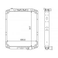 Радиатор МАЗ-533608 алюминиевый, дв.ЯМЗ-7511 (пр-во ШААЗ)