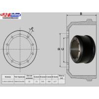 Тормозной барабан SAF 420x180 (пр-во SAF)