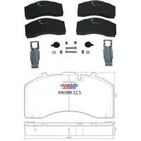 Тормозные колодки дискового механизма Knorr SK 7 22.5 (пр-во SAF)