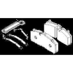 Колодки тормозных дисков (комплект на ось) SBS2220 (пр-во SAF)