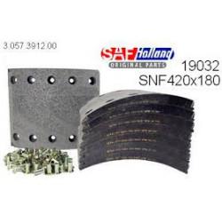 Накладка тормозные оси SAF 420x180 стандарт (комплект на ось) (пр-во SAF)